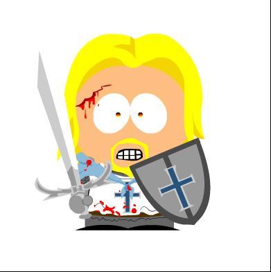 Eccomi in versione South Park,in modalità da battaglia...