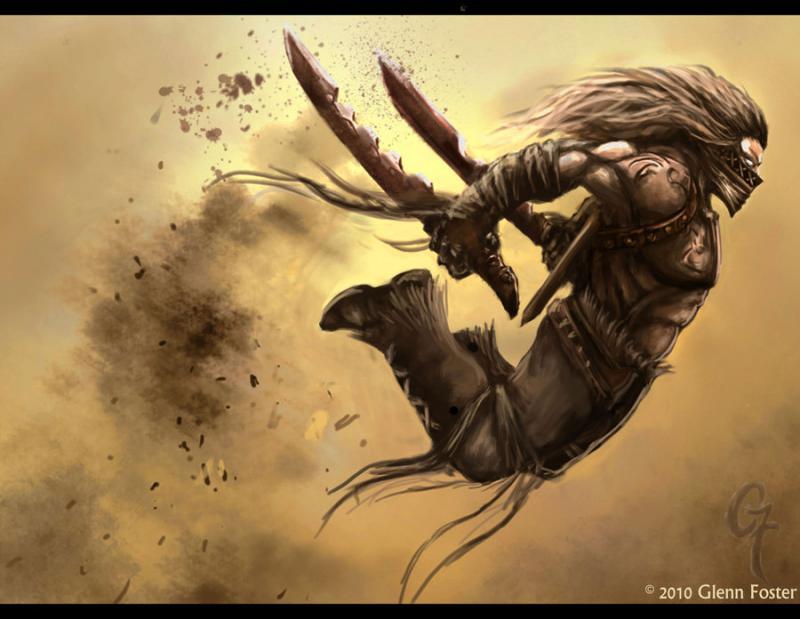 barbaro tempesta doppia spada