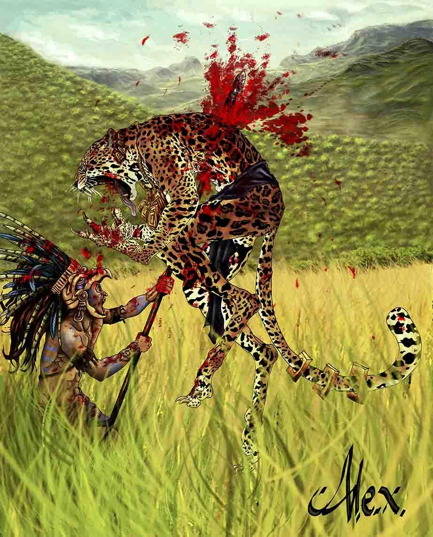 Werejaguar Vs Eagle warrior
