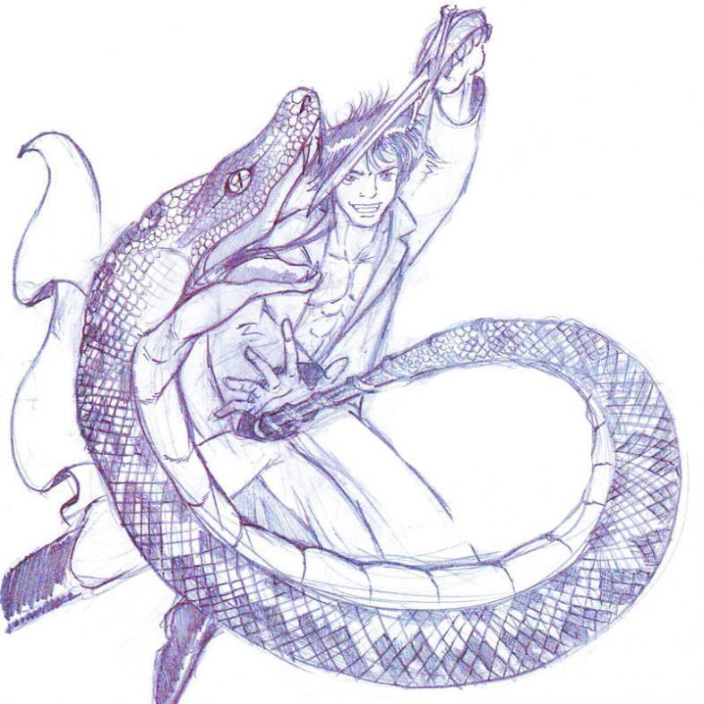 col...PITO!!! Astelider con la sua verga del serpente!