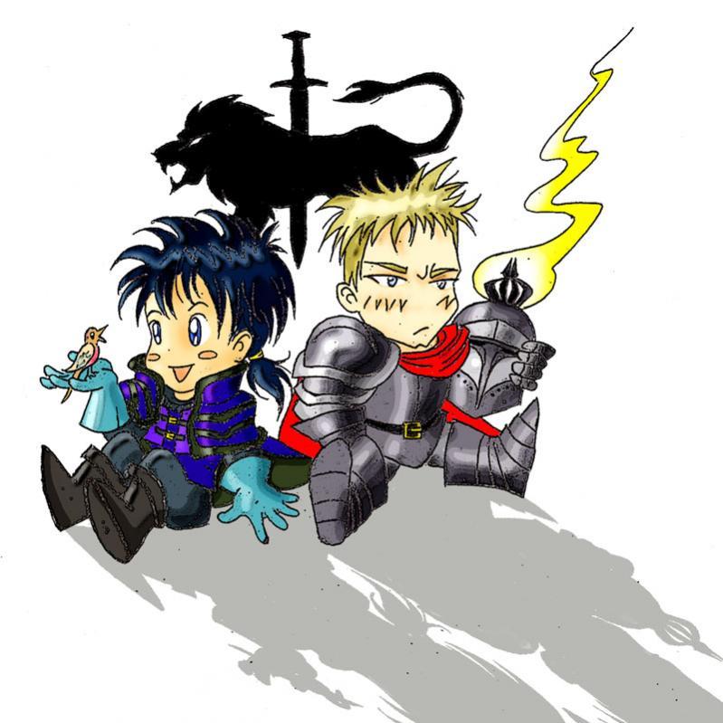 Sir Kassian & Sir Lukas (versione chibi)