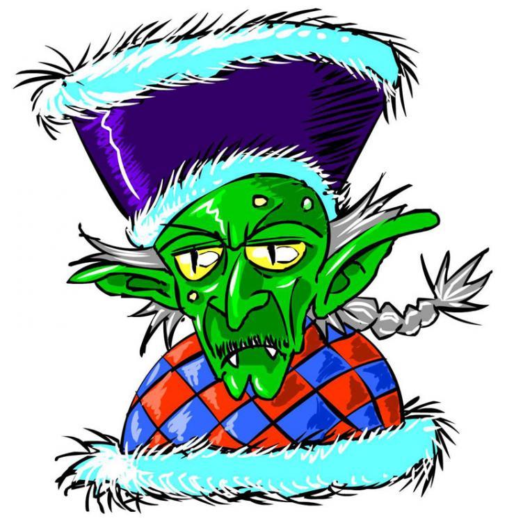 Il grande capo: Skaska Skriuta, goblin rognoso con delirio di onnipotenza. Shrkiiiii!!!
