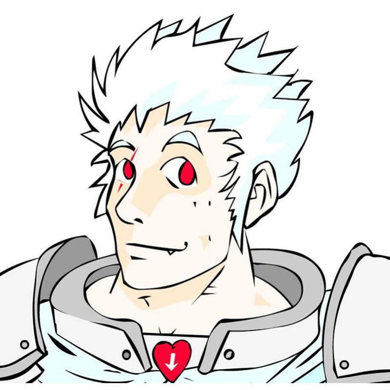 Questo baldo giovanotto albino è Reyott, ex barbaro e ora paladino dell'Amore di Ahama