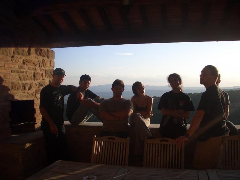 AL CUNGI, foto suggestiva al tramonto con me, Zell, Larin, Sami, Loth rd il Freppi coperto da Gid