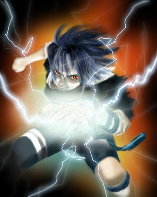 Sasuke Chidori by ShingamiBadger