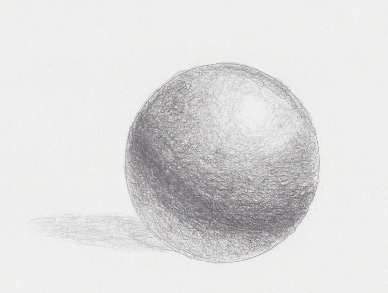 sfera ombreggiata a matita