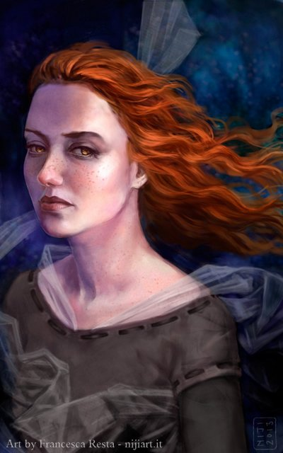 """Illustrazione per la copertina di """"Brilliant - Ali di Fata"""", paranormal romance di M.P.Black"""