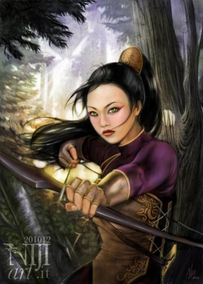 """Illustrazione per la copertina di """"Gabriel e la figlia dell'imperatore d'oriente"""""""