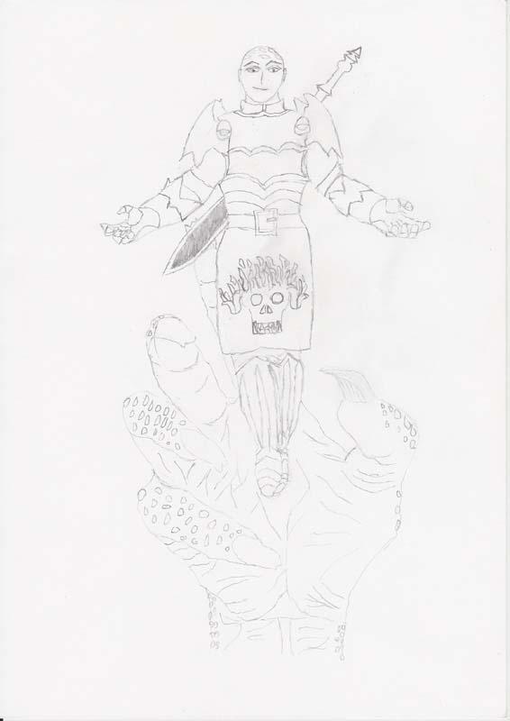 """""""Scourge"""", il malefico seguace di Alphaks dalla spada nera e facente parte della """"Mano Persecutrice di Alphaks""""."""