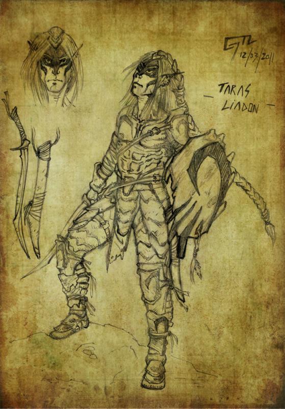 Taras Liadon, Elfo Druido 1° Livello
