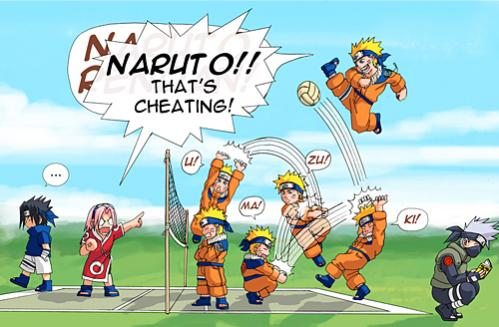 naruto cheating