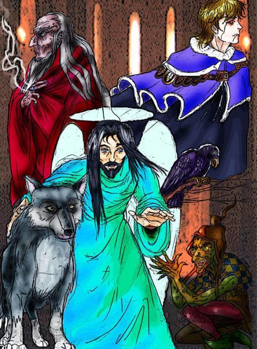 Elohim e famiglia: l'oscuro nonno. Iochanann il lupo, Mepop il goblin, Giuliano il vampiro...