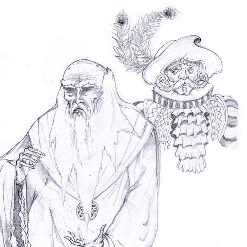 Medhai (il vecchio mago) e Prospero de Rebaltieri (mago mercante glantriano)
