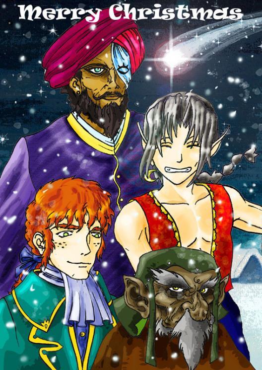 Buon Natale (personaggi RA): Nirguna, Sha-Jehan, Nicholas Grimm, Midar il nano