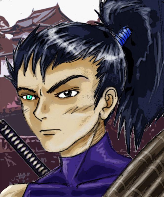 dal lontano oriente...il samurai dall'occhio celeste!
