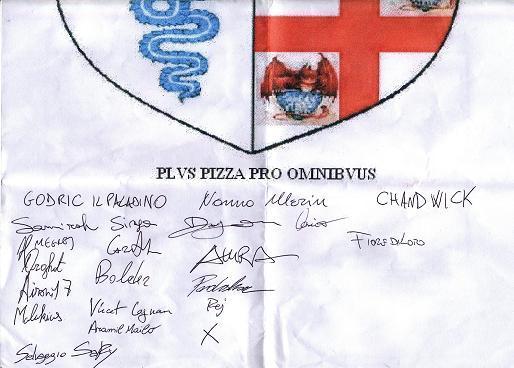 qualcuno si ricorda dello stendardo al raduno milanese dicembre 2007?????beh,appena arrivato a casa avevo scannerizzato il tutto...peccato che fino ad ora non sia mai riuscito a metterlo a posto! Ed ecco qua le firme dei coraggiosi :-D