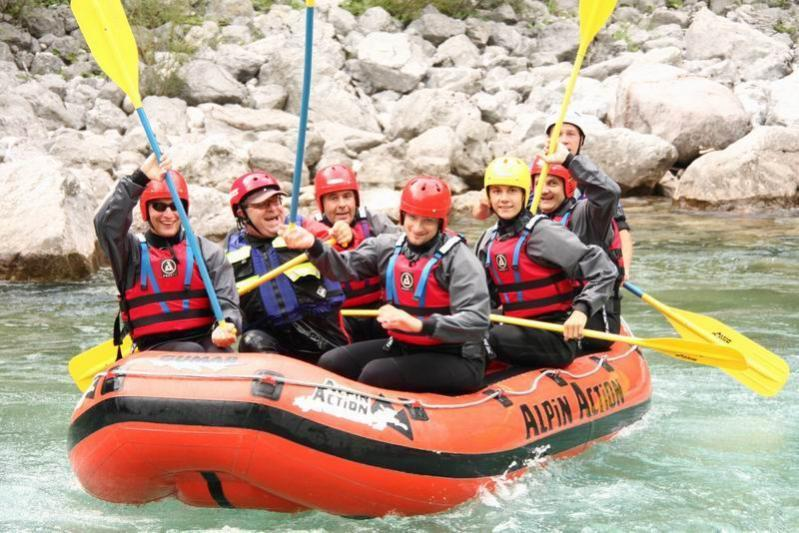 Rafting 2008 - Saluto dal gommone