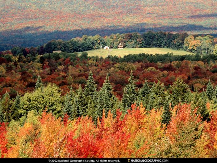 Autumn in Vermont... dal national Geografic una foto coi colori mozzafiato.
