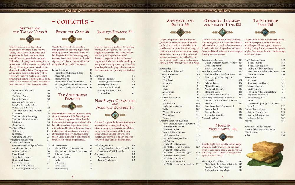 Adventures in Middle-earth Loremasters Guide contents-2000.jpg