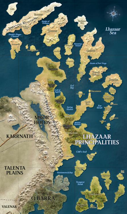Mappa dei Principati di Lhazaar