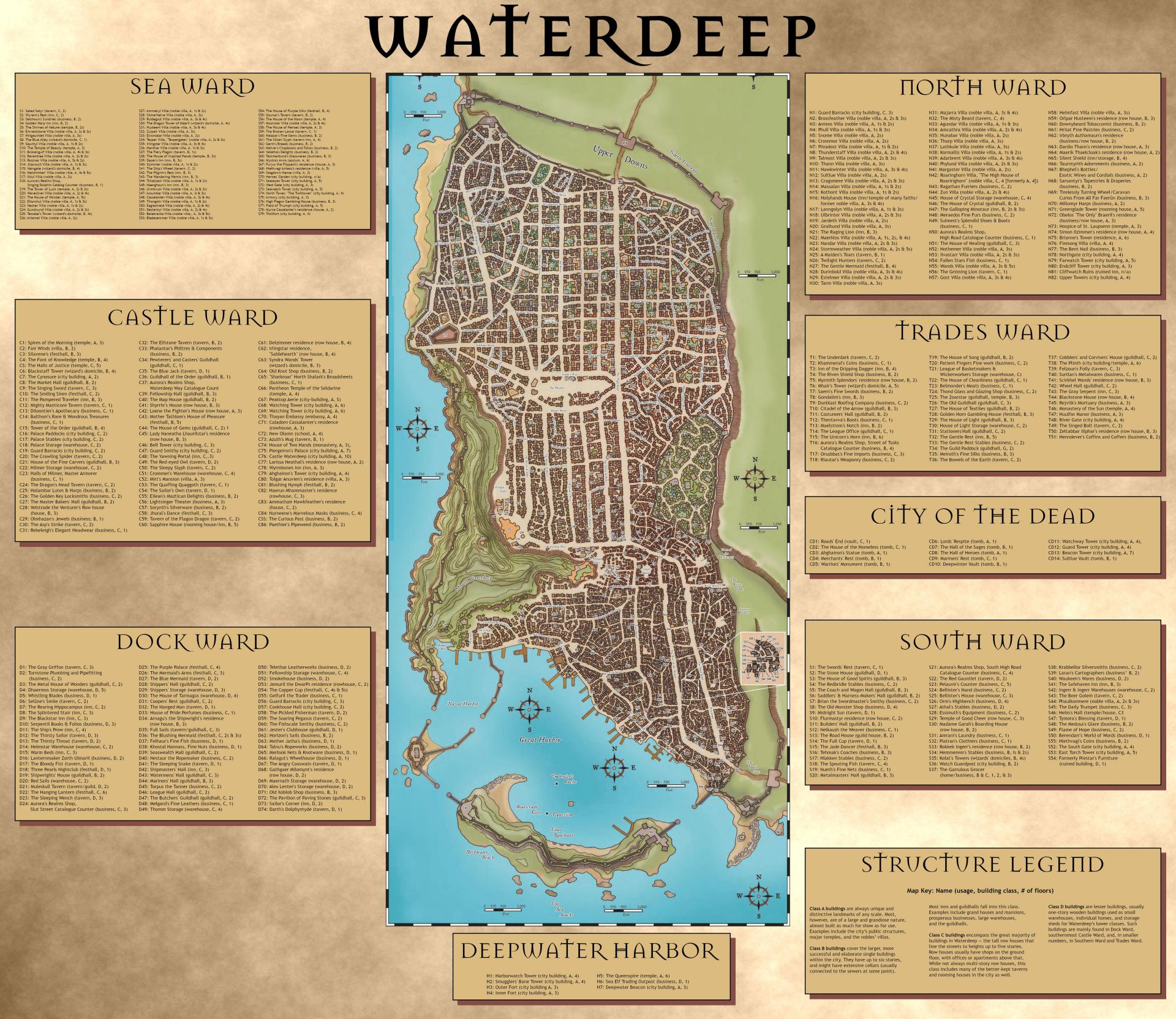 Mappe di Waterdeep