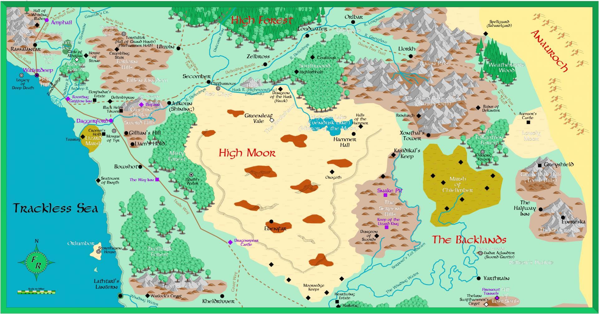 Faerûn, mappa Alta Brughiera 2e