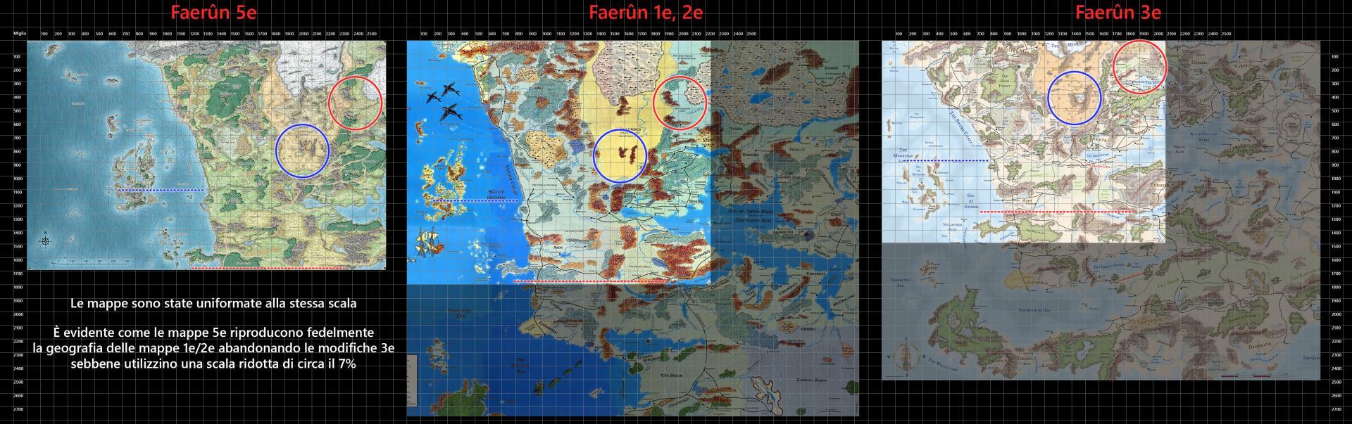 Mappe dei Forgotten Realms